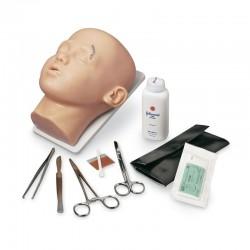 Simulátor dětské hlavy pro šití kůže