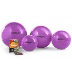 Ledragomma Gymnastik Ball Standard - fialová / sada