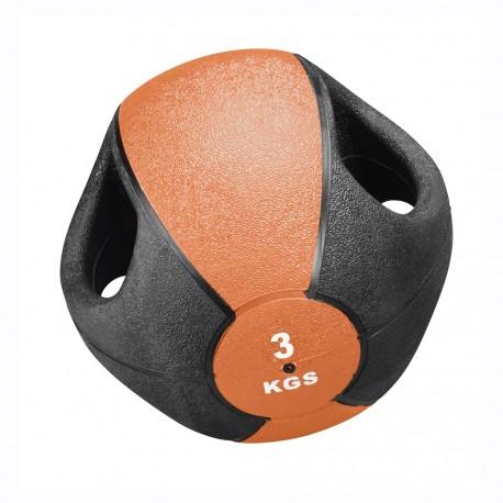 Trendy Esfera Medicinbal s úchyty - 3 kg / ø 23 cm / oranžová