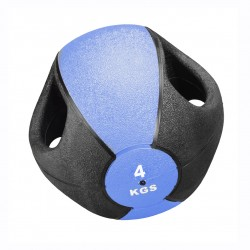 Trendy Esfera Medicinbal s úchyty - 4 kg / ø 23 cm / modrá