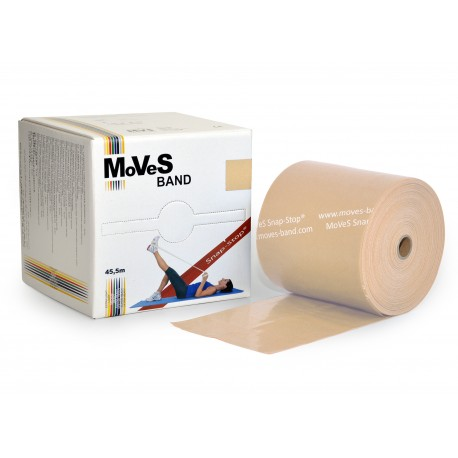 MoVeS-Band posilovací guma - role 45 m / béžová / extra slabá