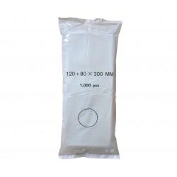 Sáčky mikrotenové skládané 12 x 30 cm