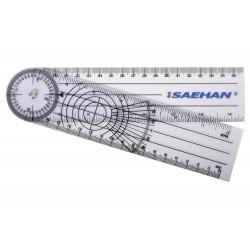Goniometr plastový 20 cm/360 stupňů - pravítkový